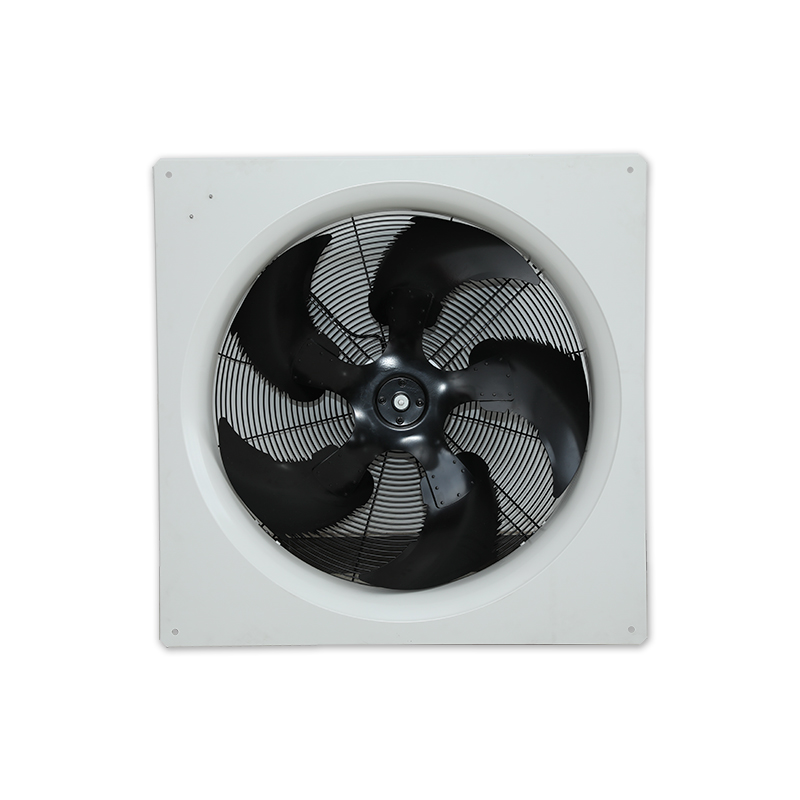 Panel cooling axial fan cabinet ventilation